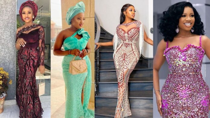 Stylish,Classy and Eye Popping Asoebi Gown Styles