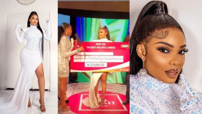 Actress Iyabo Ojo wins best dressed female and Hairstyle at Headies Award night,Goes home with 250 thousand Naira(video)