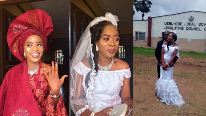 """""""God finally showed me mercy""""-Excited single mom says as she becomes a MRS"""
