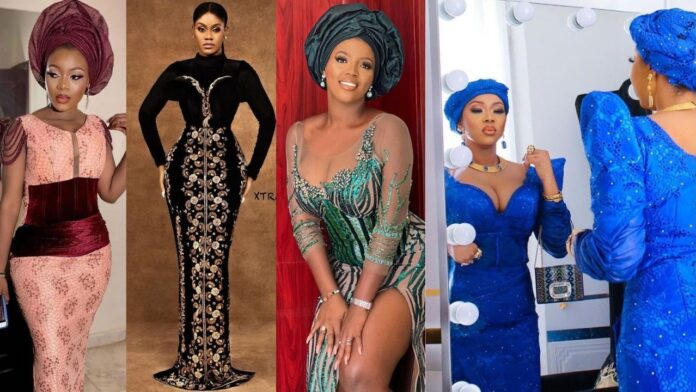 Latest stunning and Gorgeous Asoebi lace and cord styles