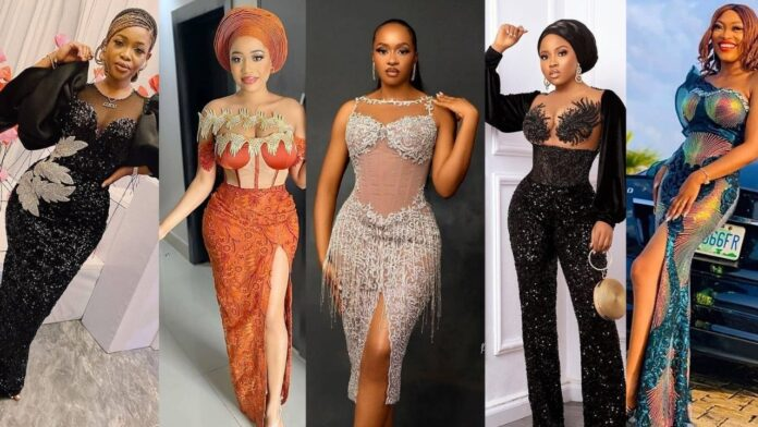 Latest Magnificent,Elegant and Stunning Asoebi styles for chicky ladies