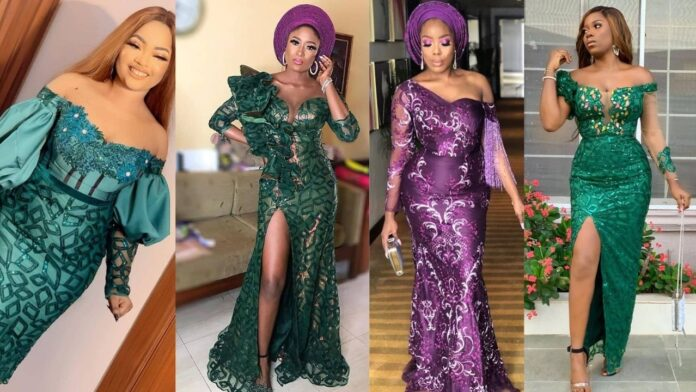 Trendy,Stylish and Eye popping Asoebi gown styles for chicky ladies