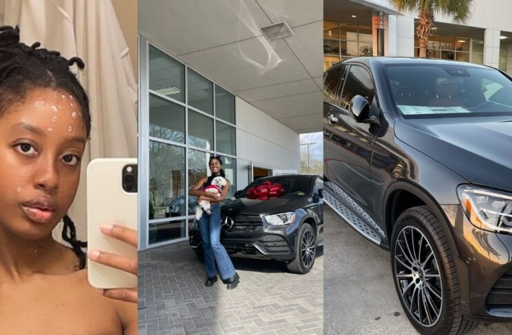 Ghanaian lady parent gifts her a Benz for Being accepted into medical school