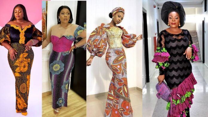 Lovely, Elegant and Beautiful Ankara long gown styles of the week