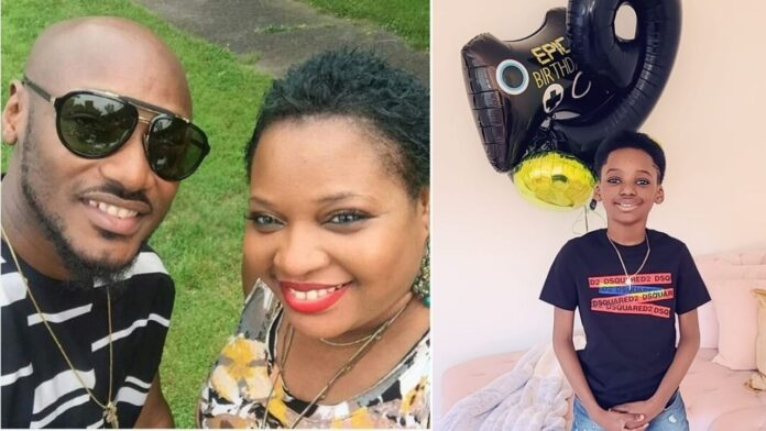 Tuface Idibia and Pero Adeniyi celebrate their son,Innocent as he adds another age