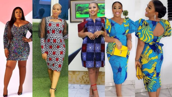Beautiful and Stunning ankara short gown styles to make you look Elegant and Classy
