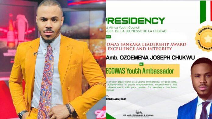 Bbnaija Ozo Appointed As ECOWAS Youth Ambassador
