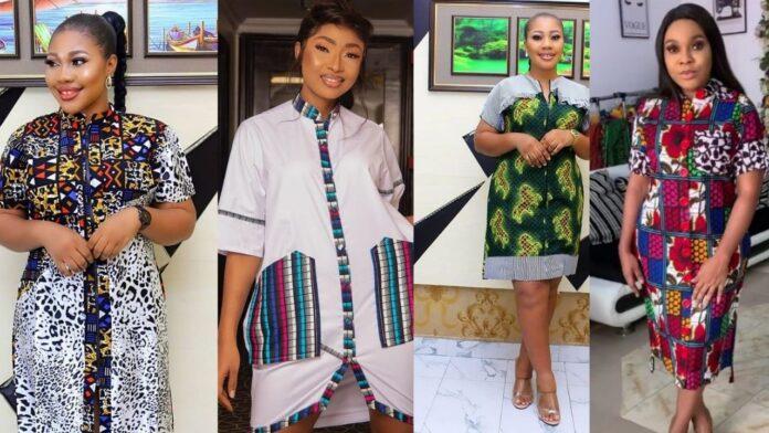 Beautiful Ankara Shirt dress styles for women