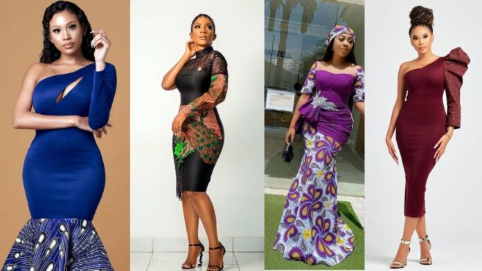 Elegant ankara plain and pattern styles for all occasion