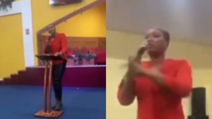 Pastor's wife rains curses on church members who refused to donate to her birthday (Video)