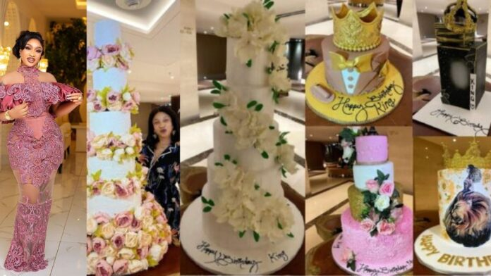 Tonto Dikeh Flaunts six beautiful massive cakes in celebration of her 36th birthday (Photos)