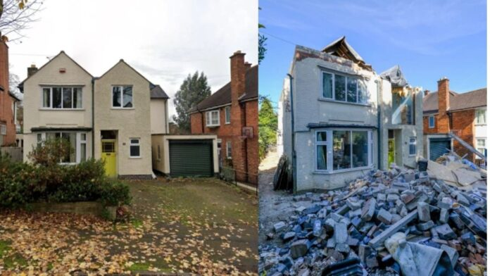 Builder breaks down house he worked on after owner refused to pay £3,500