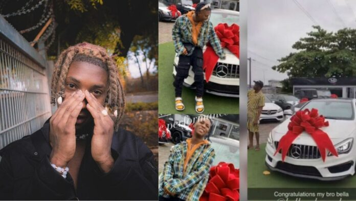 Singer, Bella Shmurda joins league of Benz Owners as he buys himself a Mercedes Benz(video)