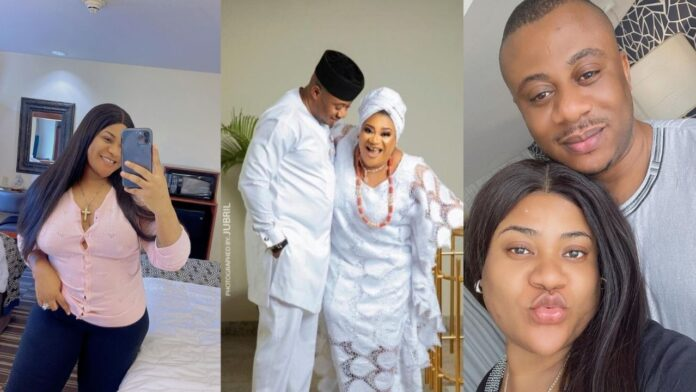 """""""Thanks for staying true and loving this stubborn girl unconditionally"""" – Actress, Nkechi Blessing celebrates husband on his birthday(photos)"""