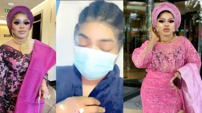 """""""I want my life back, I cant hold the pain no more"""" – Bobrisky speaks on his post- Butt Enlargement surgery experience"""